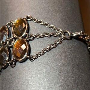 "Lia Sophia Jewelry - Lia Sophia Cognac Faceted Stone Bracelet 7 1/2"""